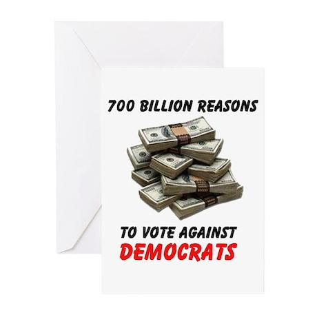 DEMOCRATS SCREW US AGAIN Greeting Cards (Pk of 10)
