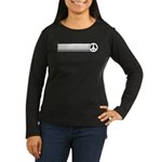 Retro Peace Rainbow Women's Long Sleeve Dark T-Shi