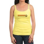 Retro Peace Rainbow Jr. Spaghetti Tank