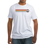 Retro Peace Rainbow Fitted T-Shirt