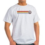 Retro Peace Rainbow Light T-Shirt