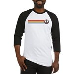 Retro Peace Rainbow Baseball Jersey