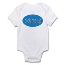 pick me up funny silly baby Infant Creeper