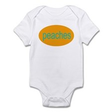 peaches funny silly baby Infant Creeper
