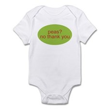 peas no thank you baby Infant Creeper