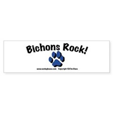 Bichons Rock! Bumper Bumper Sticker
