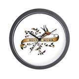 Social Work Scroll Wall Clock