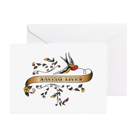 Saving Lives Scroll Greeting Cards (Pk of 10)
