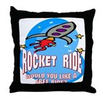 Rocket Ride Throw Pillow