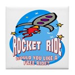 Rocket Ride Tile Coaster