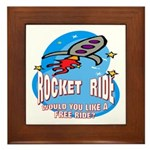 Rocket Ride Framed Tile