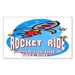 Rocket Ride Rectangle Sticker