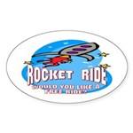 Rocket Ride Oval Sticker