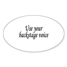 Backstage Voice Oval Decal