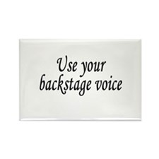 Backstage Voice Rectangle Magnet