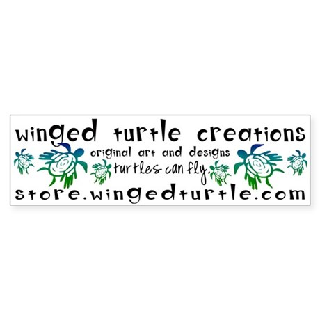 Winged Turtle Logo Bumper Sticker