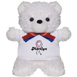 Marilyn Pink Ribbon Teddy Bear