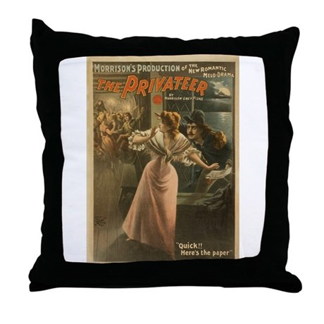 Privateer (w/ Maiden) Throw Pillow