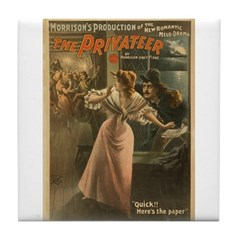 Privateer (w/ Maiden) Tile Coaster