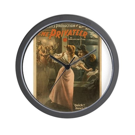 Privateer (w/ Maiden) Wall Clock