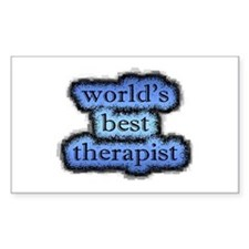 world's best therapist Rectangle Decal