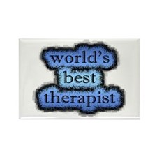 world's best therapist Rectangle Magnet (100 pack)