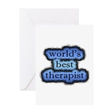 world's best therapist Greeting Card