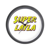 Super layla Wall Clock
