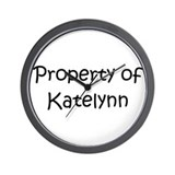 Unique Katelynn Wall Clock
