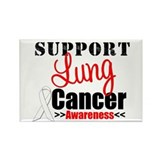 SupportLungCancer Awareness Rectangle Magnet (10 p