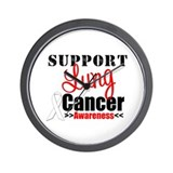 SupportLungCancer Awareness Wall Clock