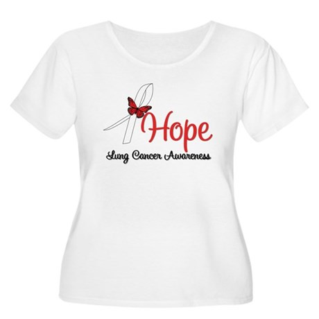 Hope Lung Cancer Women's Plus Size Scoop Neck T-Sh