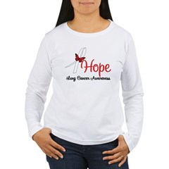 Hope Lung Cancer Women's Long Sleeve T-Shirt