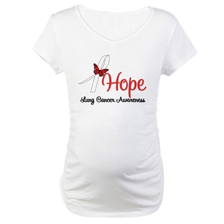 Hope Lung Cancer Maternity T-Shirt