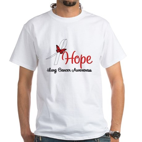 Hope Lung Cancer White T-Shirt