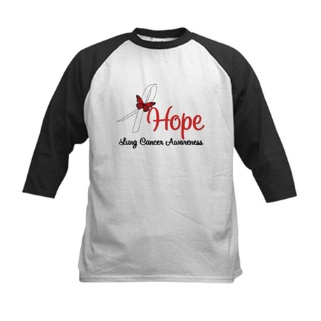 Hope Lung Cancer Kids Baseball Jersey