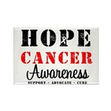 Hope Cancer Awareness Rectangle Magnet