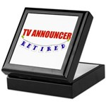 Retired TV Announcer Keepsake Box