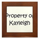 Cute Kayleigh Framed Tile