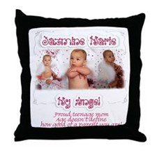 jazmine marie Throw Pillow