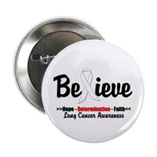 "Believe - Lung Cancer 2.25"" Button (10 pack)"
