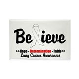 Believe - Lung Cancer Rectangle Magnet