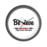 Believe - Lung Cancer Wall Clock