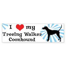 I Love My Treeing Walker Coonhound Bumper Bumper Sticker