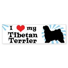 I Love My Tibetan Terrier Bumper Bumper Sticker