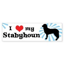 I Love My Stabyhoun Bumper Bumper Sticker