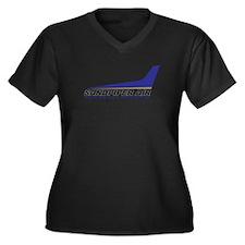 Sandpiper Air Women's Plus Size V-Neck Dark T-Shir