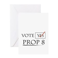 Unique Yes prop 8 Greeting Card
