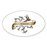 Makeup Scroll Oval Sticker (50 pk)