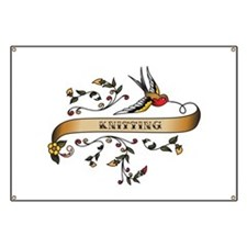 Knitting Scroll Banner